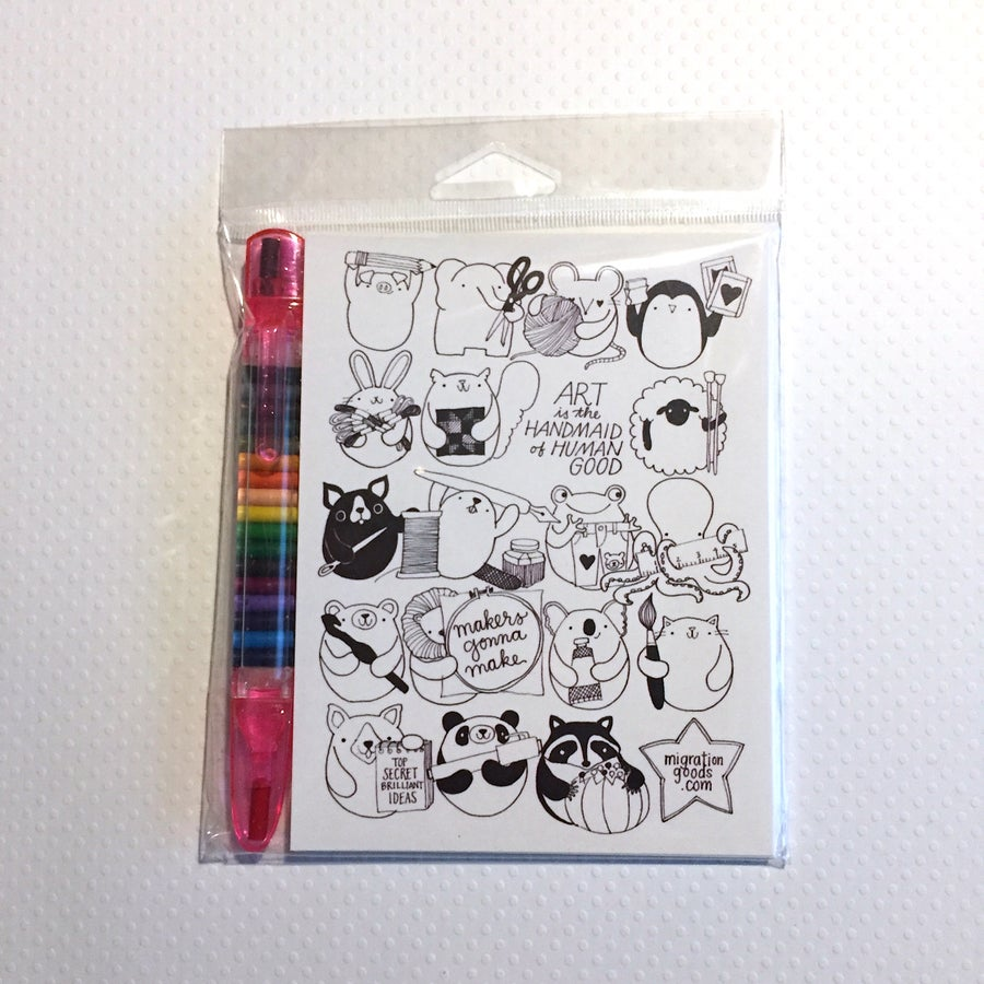 Image of craft happy coloring postcard sets