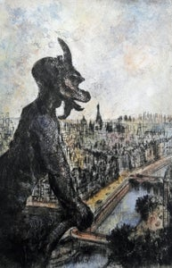 "Image of ""Gargoyle"", Notre Dame, Paris, France"