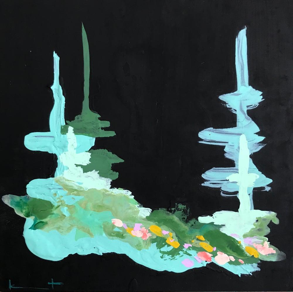 Image of tiny painting no. 70 (midnight, gulf)