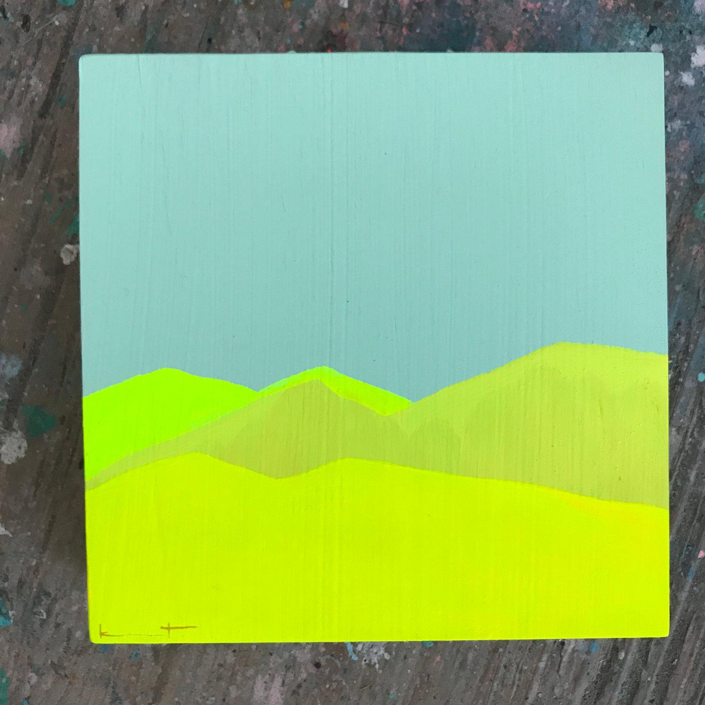 Image of tiny painting no. 72 (sage, wild mustard)