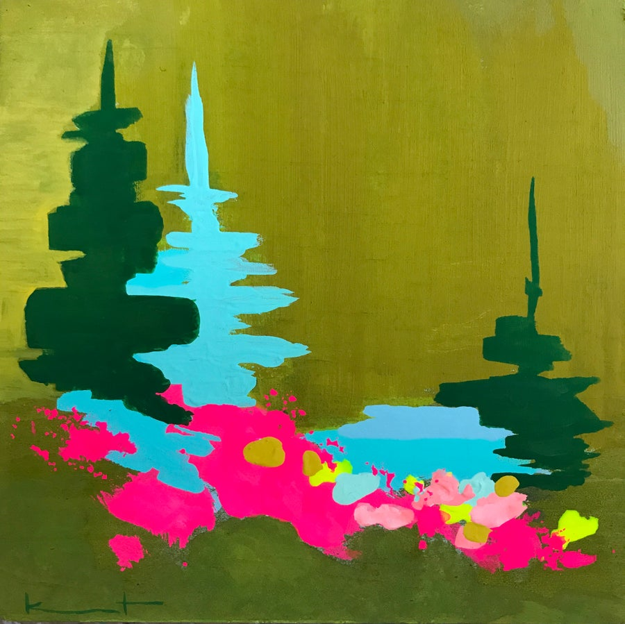 Image of tiny painting no. 75 (olive, opera)