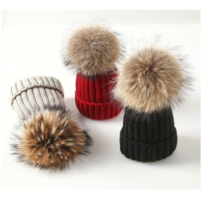 Image of Beanie Fur Hat