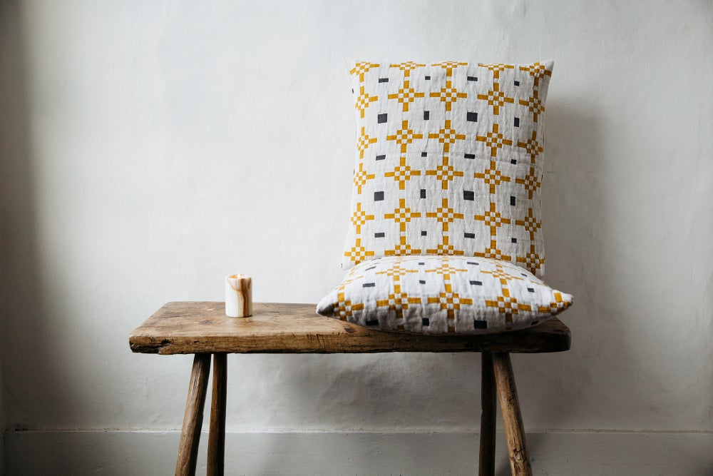 Image of Hygge Honey Cushion Cover - washed cotton / Linen