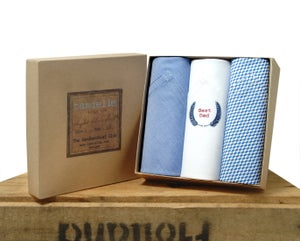 Image of Italian Cotton Handkerchiefs: Best Dad