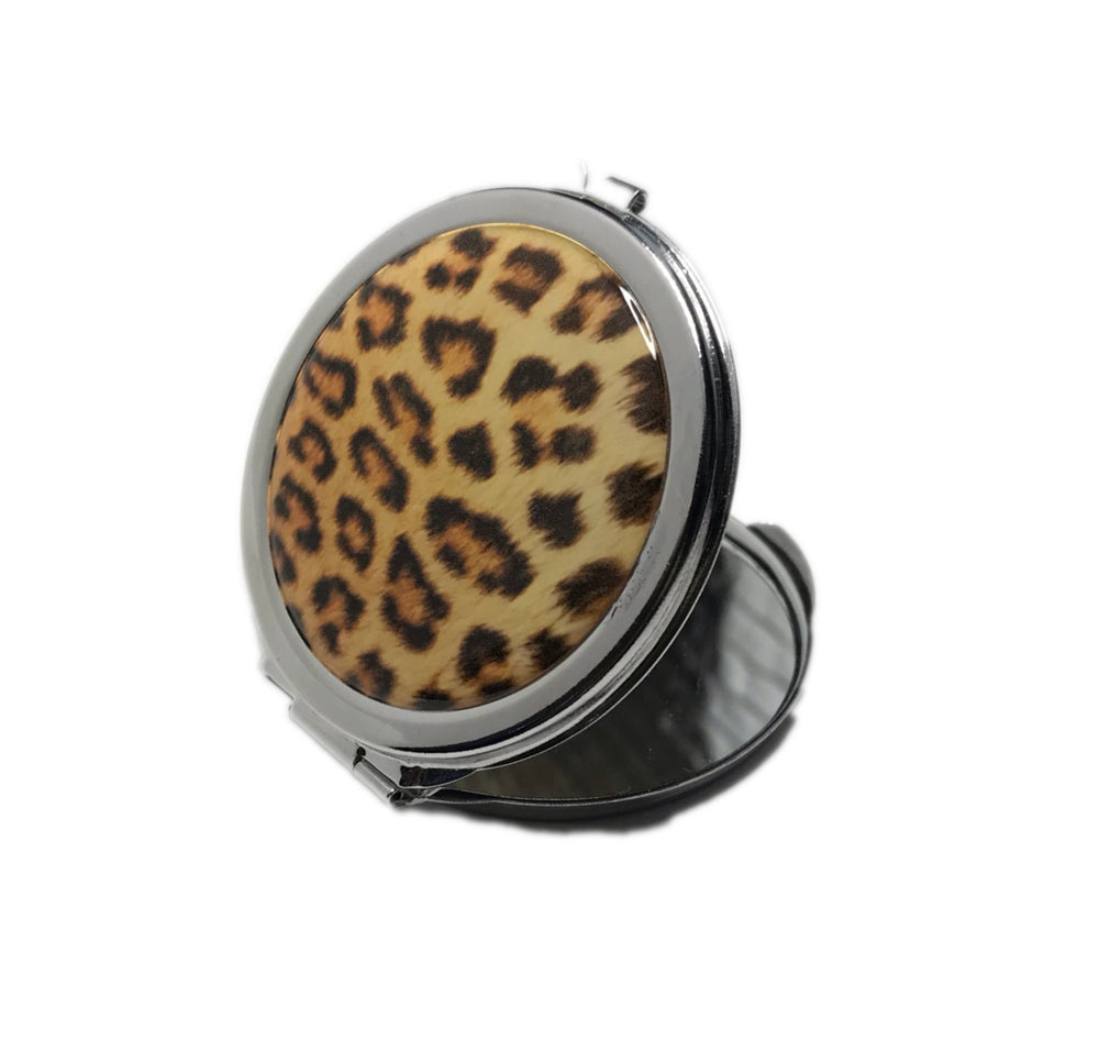 Image of Leopard Print Compact Mirror