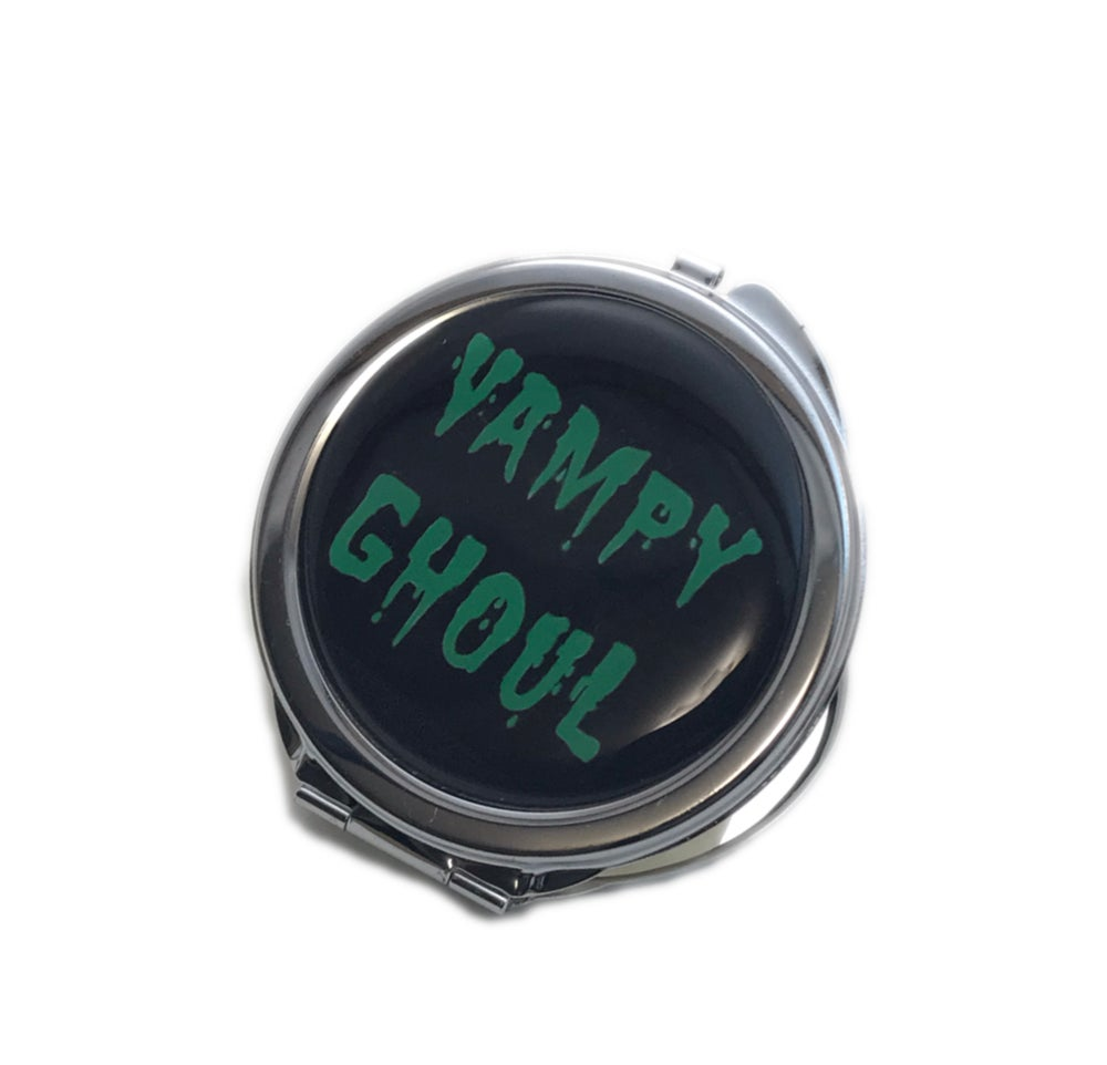 Image of Green Vampy Ghoul Compact Mirror