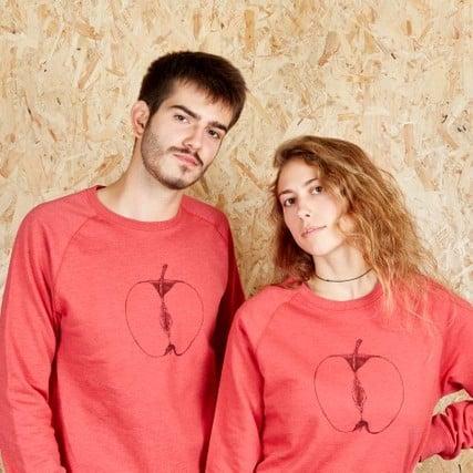 VajApple Unisex Red Sweatshirt (Recycled)