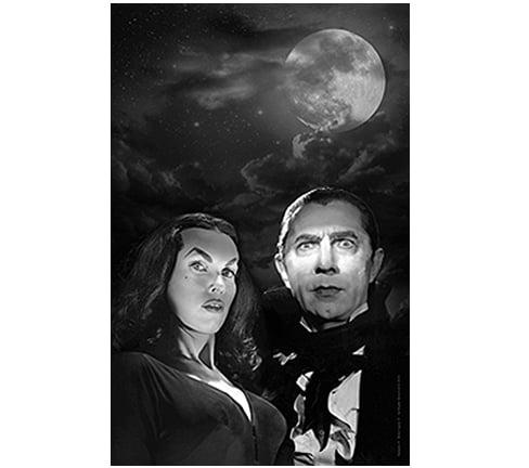 "Image of OFFICIAL LUGOSI™ VAMPIRA™ 11x17 ""Moonlight"" poster."