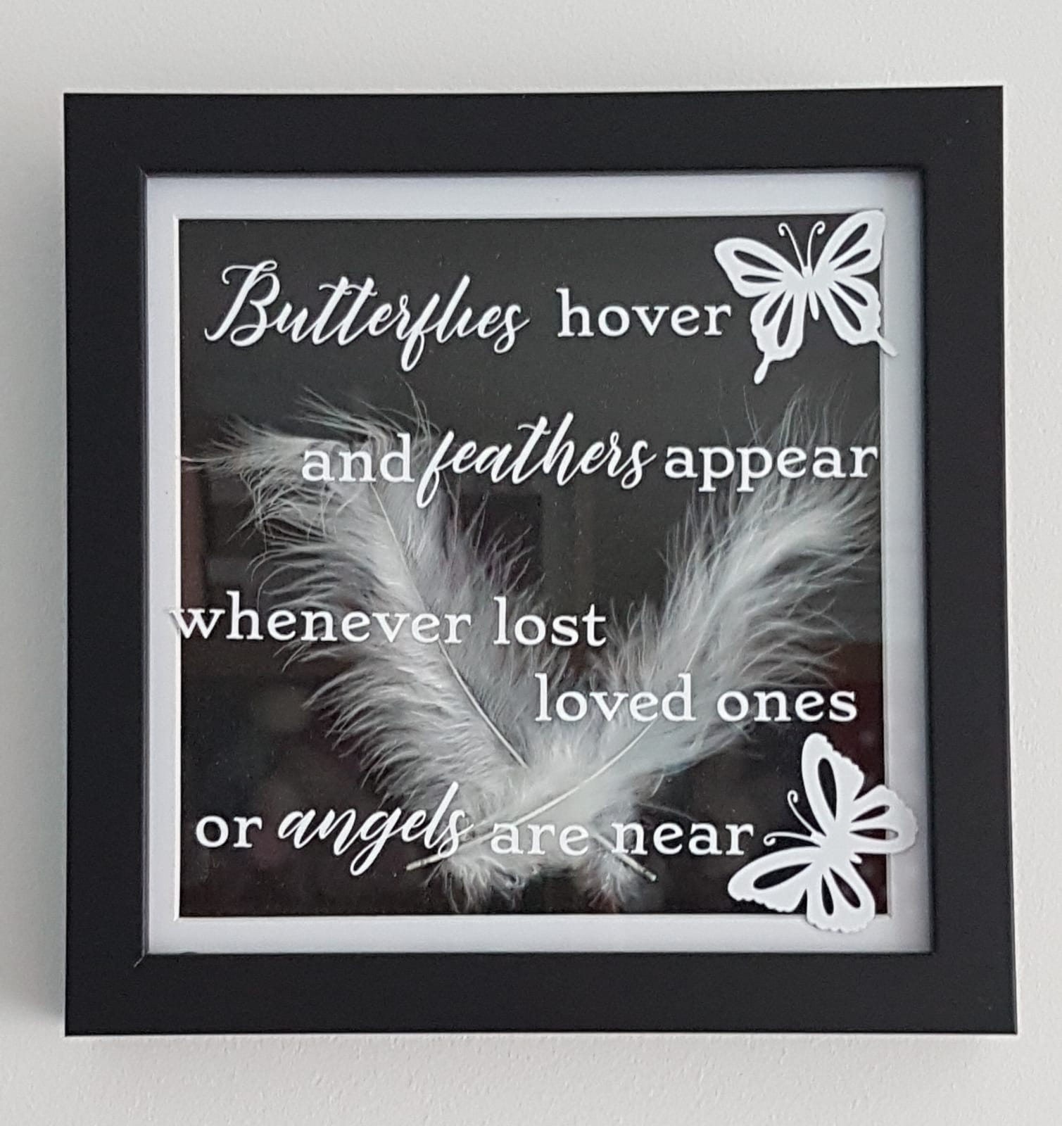 Image of Memory Frame - Butterflies Hover and Feathers Appear Whenever Lost Loved Ones or Angels Are Near