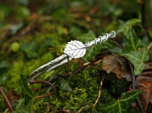 Image of Elm leaf vine bangle (Made to order)