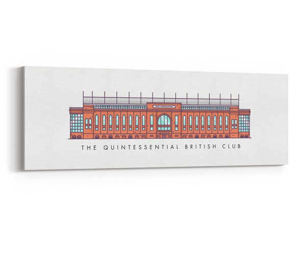 Image of The Quintessential British Club - Ibrox Main Stand Canvas