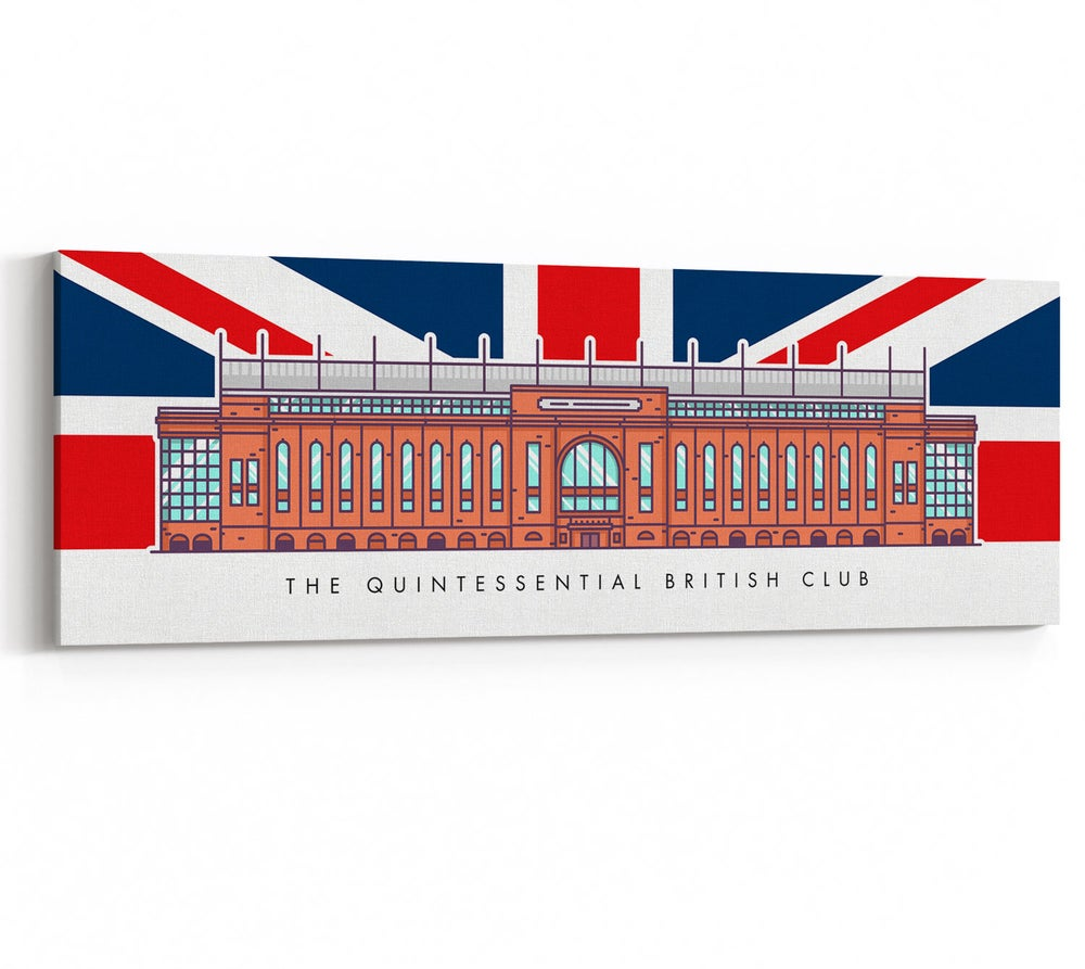 Image of The Quintessential British Club - Bill Struth Stand Union Jack Canvas