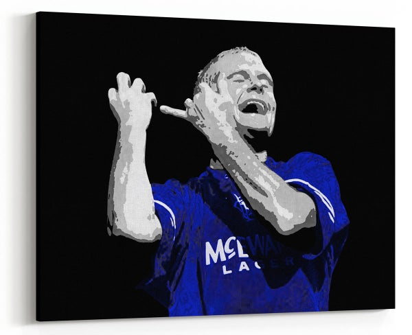 Image of Gazza - Paul Gascoigne playing the Flute