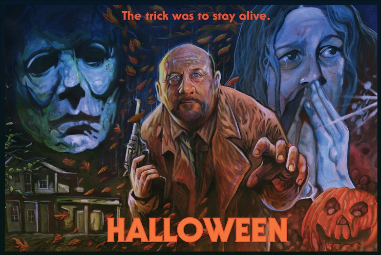 Image of HALLOWEEN: The Trick Was To Stay Alive Limited Edition Screen Print
