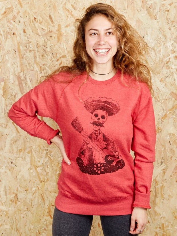 Image of Day Of The Dead Red Unisex Sweatshirt (Recycled)