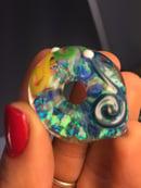 Image of 🍋  🌊 Opal donut deep sea blue and lemon drop