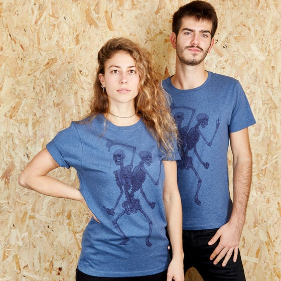 Image of Friends Forever Unisex Denim T-shirt (Organic)