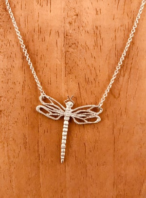 Image of 18K Gold Dragonfly Pendant