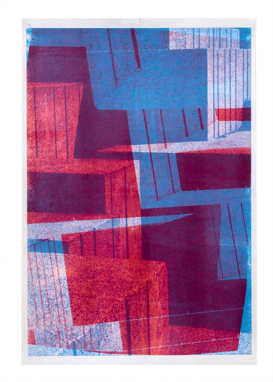 Image of Concrete Blocks Risograph