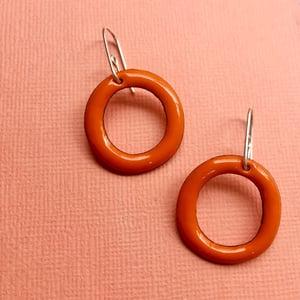 Image of Enamel hoops - small- Orange