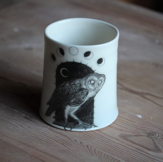 Image of (PRE ORDER) Death of the Night. Porcelain candle holder