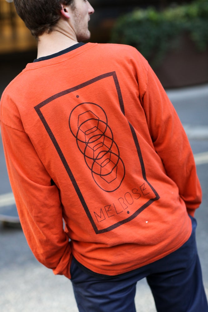 Image of Staple Long Sleeve - Orange/Black
