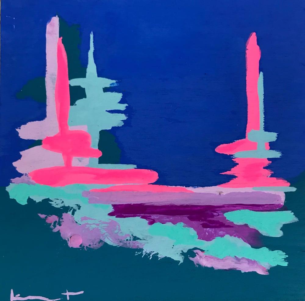 Image of tiny painting no. 82 (big sky, opera)