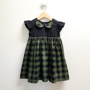Image of Spruce Plaid Mini Dress