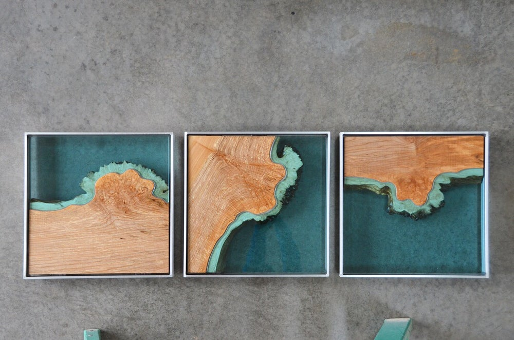 Image of aerial series triptych