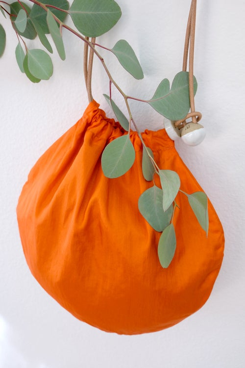 Image of circle tote - orange nylon