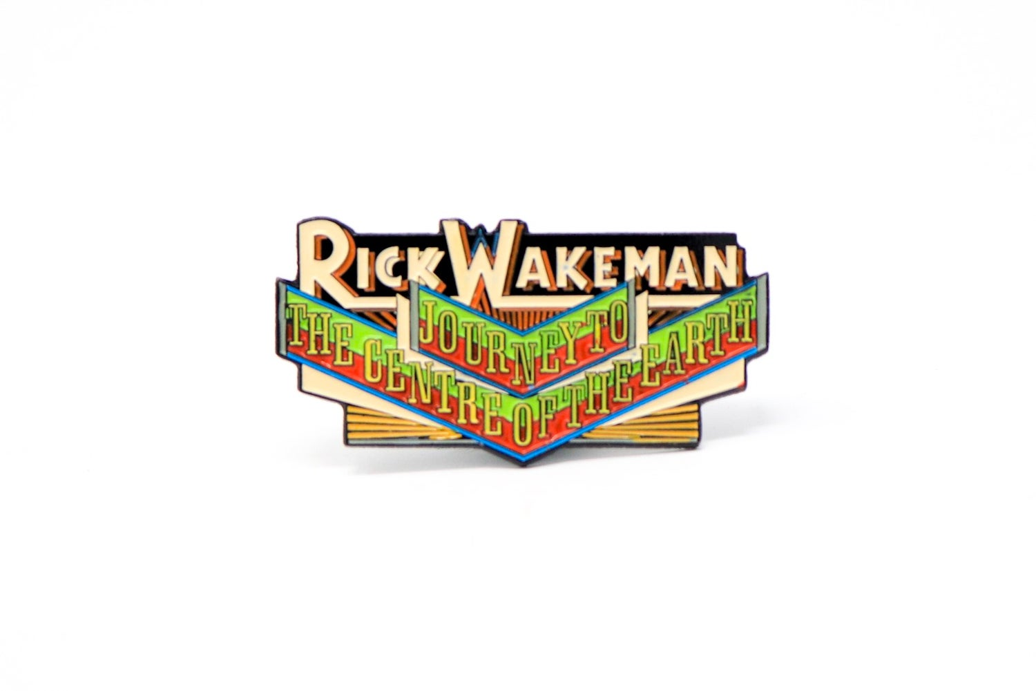 Image of Rick Wakeman - Journey To The Centre of the Earth Enamel Pin