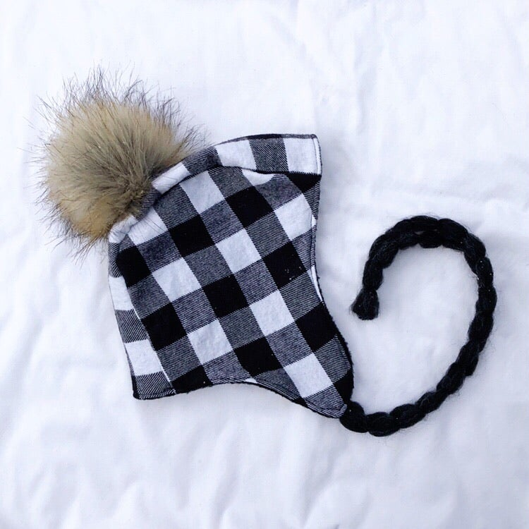 Image of Flannel Pom Bonnet