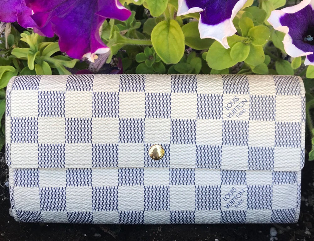 Image of Louis Vuitton Damier Azur Sarah Wallet