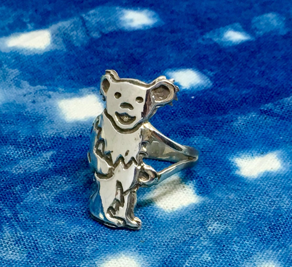 Image of Standing Bear Ring Cast In Sterling Silver