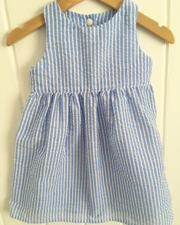 Image of Blue and white candy dress