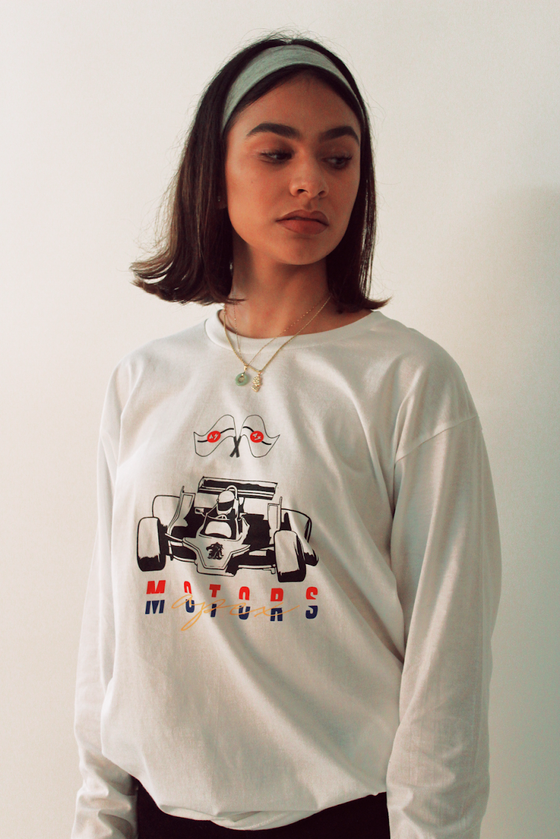 Image of Motors Longsleeve Tee (WHITE)