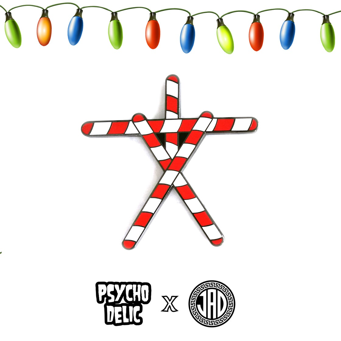 Image of Peppermint Stick Project (Enamel Pin)
