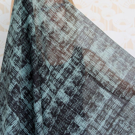 Image of Row print cotton scarf