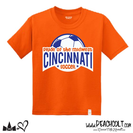 Image of Cincinnati Soccer Tee, Orange, Toddler Tee