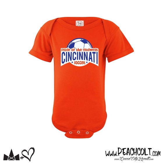 Image of Cincinnati Soccer Tee, Orange, Onesie