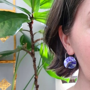 Image of Whirligig Earrings - Purple Petal