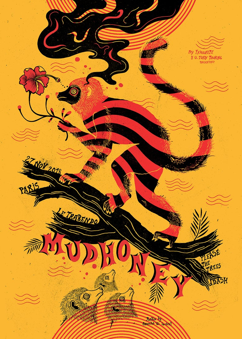Image of MUDHONEY (Paris 2018) screenprinted poster