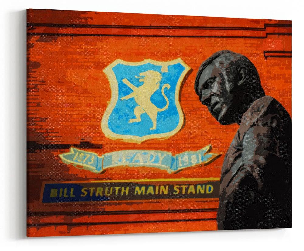 Image of Ibrox Stadium - Bill Struth Main Stand - John Greig Statue