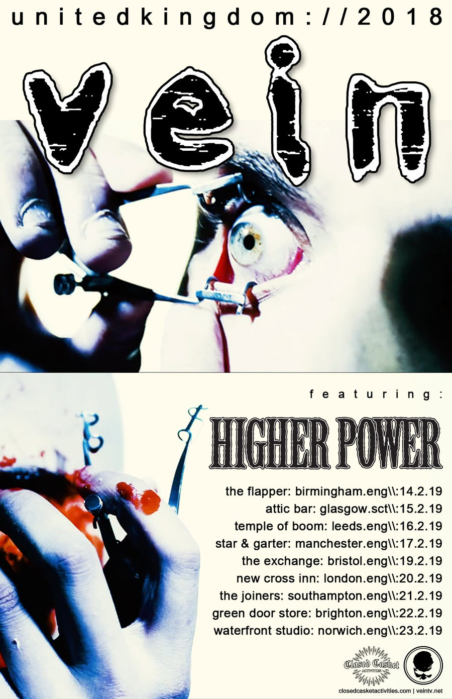 Image of Vein / Higher Power - Temple Of Boom Leeds - Saturday 16th Feb