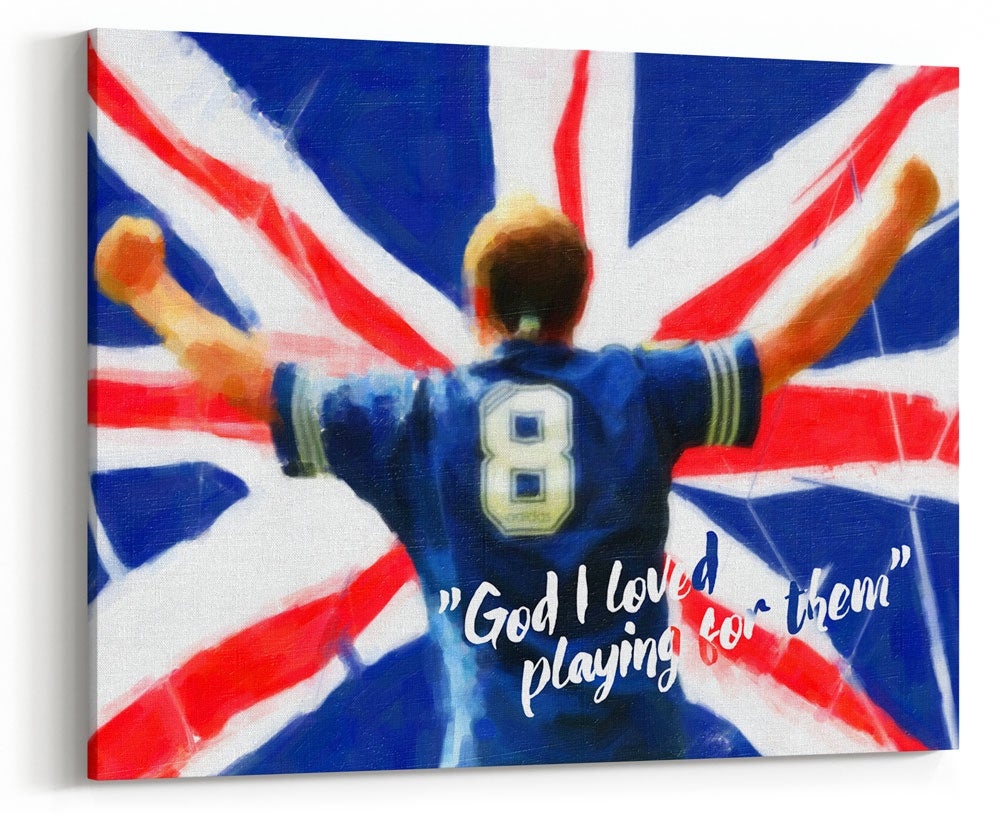 "Image of Paul Gascoigne - ""God I Loved"" Canvas"