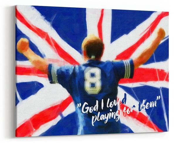 """Image of Paul Gascoigne - """"God I Loved"""" Canvas"""