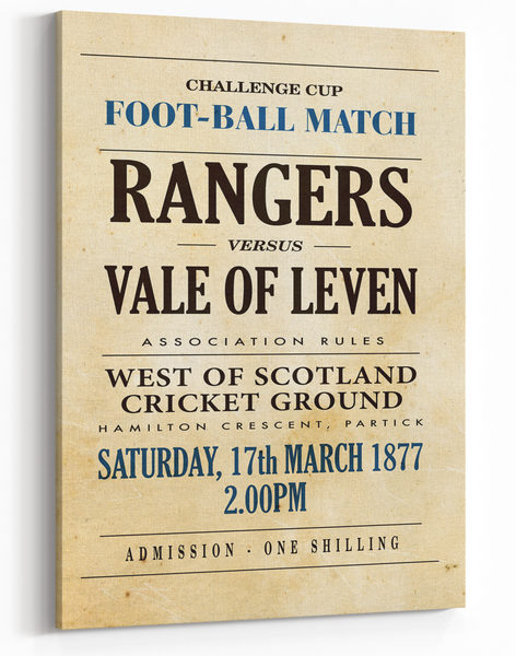 Image of Rangers v Vale of Leven 1877