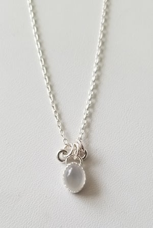 Image of moonstone necklace with rings