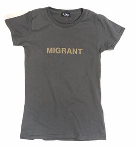 Image of Frauen T-Shirt MIGRANT anthrazit