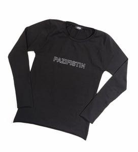 Image of Langarm Shirt PAZIFISTIN schwarz